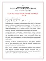 T.C. ADALET BAKANLIĞI Uluslararası Hukuk ve DıĢ ĠliĢkiler Genel