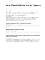 Gıda Güvenilirliği Kısa Testinin Cevapları