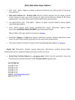 2015-2016 Erken Kayıt İndirimi