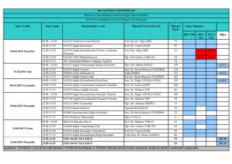 2014-2015 Bahar Dönemi I. Vize Programı