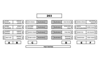 203 numaralı Derslik