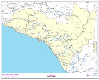 Alanya ilçe Yol Ağı Haritası