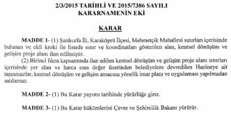 2/3/2015 TARiHLİ vE 2015/7386 sAYıLI