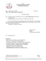 Müdürlüğümüzün konu ile ilgili 01/04/2015 tarih ve 3474244 sayılı