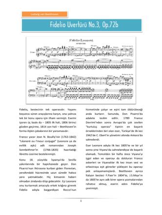 Beethoven – Fidelio Uvertürü No.3, Op.72b