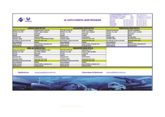 14. hafta parsiyel gemi programı