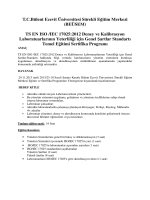 TS EN ISO /IEC 17025:2012 Deney ve Kalibrasyon