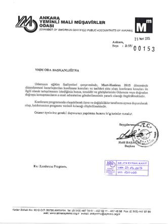 ANKARA - İstanbul Ymmo