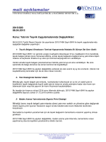 2015-020 Yatırım Teşvik Uygulamalarında Değişiklikler