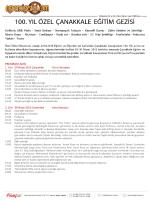 100. Yıl Özel Çanakkale Eğitim Gezisi