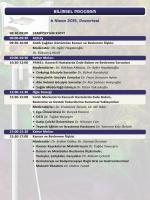 BİLİMSEL PROGRAM 6 Nisan 2015, Pazartesi