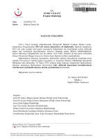 TC İZMİR VALİLİĞİ İl Sağlık Müdürlüğü Sayı