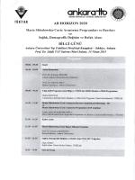 Toplantı Programı
