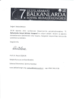 uL-UsLARA`RAı .- w - Sosyal Bilimler Enstitüsü