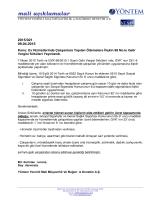 2015-021 Ev Hizmetlerinde Çalışanlara Yapılan Ödemelere İlişkin