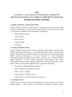 hazırlık süreç raporu
