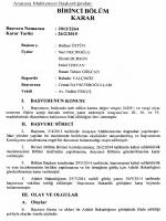 BİRİNCİ BÖLÜM - Resmi Gazete