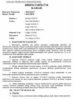 Anayasa Mahkemesinin 26/2/2015 Tarihli ve 2013
