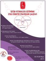 18-19-20 Mayıs 2015 - Hacettepe Üniversitesi Eğitim Fakültesi