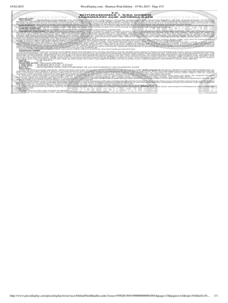 19.04.2015 PressDisplay.com - Hurriyet Print Edition