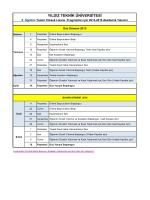 II. Öğretim Tezsiz Yüksek Lisans Programları İçin Akademik Takvim
