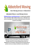Best Moving Company In Abbotsford, BC