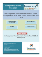 Non-Halogenated Flame Retardants  Market - Global Industry Analysis, Growth and Forecast, 2012 – 2018