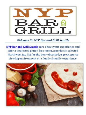 Best Happy Hour @ NYP Bar and Grill Seattle