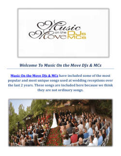 Music On the Move DJs & MCs - Sacramento DJ Wedding