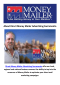 Direct Money Mailer Advertising Sacramento - Direct Mail Service Sacramento