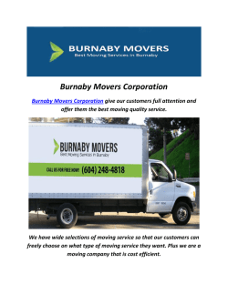 Best Moving Companies In Burnaby
