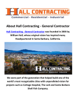 Hall Contracting - General Contractors in Santa Barbara