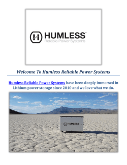Fuelless Generator Solar by Humless Reliable Power Systems