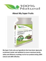 My Super Fruits Buy Green Coffee Beans in Thornbury Bristol