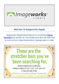 Canvas Stretchers - Imageworks Supply