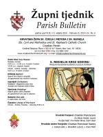 Župni tjednik Parish Bulletin - www.croatianchurchnewyork.org