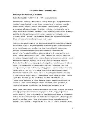 - Peščanik - http://pescanik.net - Fašizacija Hrvatske već je izvedena