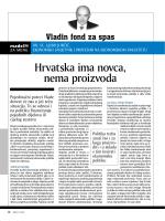 Hrvatska ima novca, nema proizvoda