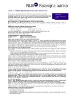 Uslovi za odobravanje hipotekarnog kredita fizičkom licu