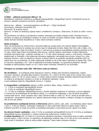 CLINIC - glifosat (aminosol) 480 g/l SL Neselektivni