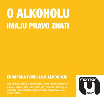 Brošura: O alkoholu imaju pravo znati