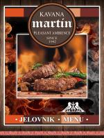 JELOVNIK MENU - Restoran Martin