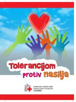 Zbornik učeničkih radova-Tolerancijom protiv nasilja