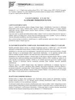 Ugovorne uvjete za opskrbu plinom – kategorija