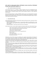 opći uvjeti za obavljanje usluga