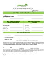 Zahtjev za promjenom osobnih podataka
