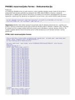 PHOBS rezervacijska forma - Dokumentacija