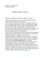 izvještaj o radu Udruge za 2014