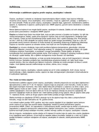 Aufklärung Nr. 7: MMR Kroatisch / Hrvatski 1 Informacije o