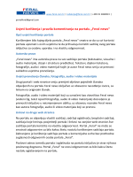 """Uvjeti korištenja i pravila komentiranja na portalu """"Feral news"""""""